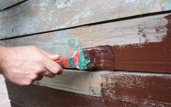 Repair the holes or nicks on walls
